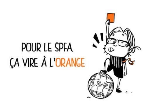 Pour le SPFA, ça vire à l'orange.