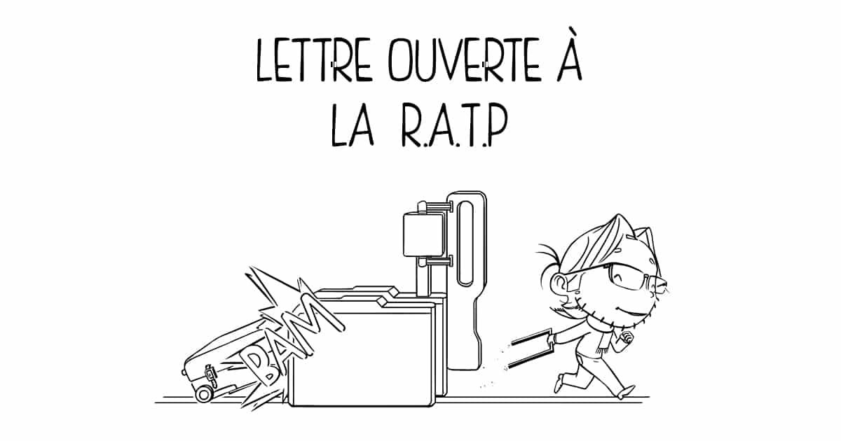 """Vignette de l'article """"Lettre ouverte à la RATP"""" par Thierry Bouillet"""